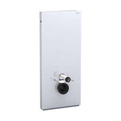 Geberit Monolith moduł sanitarny do WC wiszącego H114 szkło białe/aluminium 131.031.SI.5