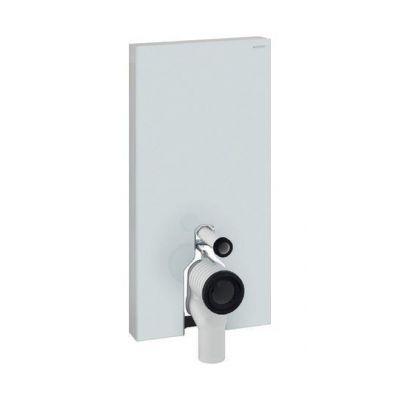 Geberit Monolith Plus moduł sanitarny do WC stojącego H101 szkło białe/aluminium 131.203.SI.5