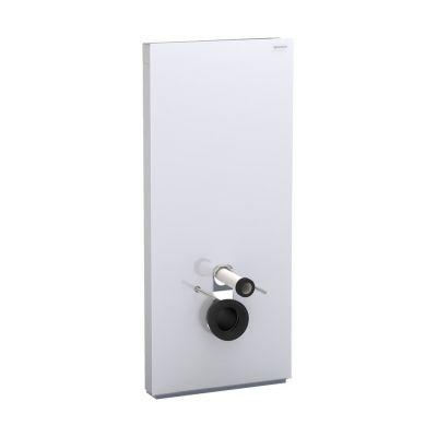 Geberit Monolith Plus moduł sanitarny do WC wiszącego H114 szkło białe/aluminium 131.231.SI.5