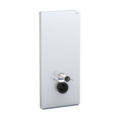 Geberit Monolith Plus moduł sanitarny do WC wiszącego H114 szkło czarne/aluminium 131.231.SJ.5
