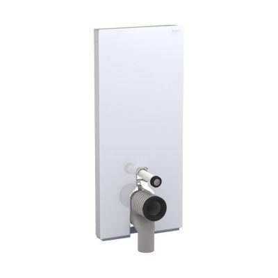Geberit Monolith Plus moduł sanitarny do WC stojącego H114 szklo białe/aluminium 131.233.SI.5