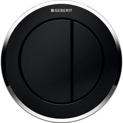Geberit Typ10 przycisk spłukujący WC pneumatyczny ręczny czarny/chrom błyszczący 116.057.KM.1