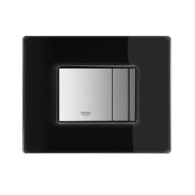 Grohe Skate Cosmopolitan przycisk spłukujący ze szklaną płytką aksamitna czarny 38845KS0