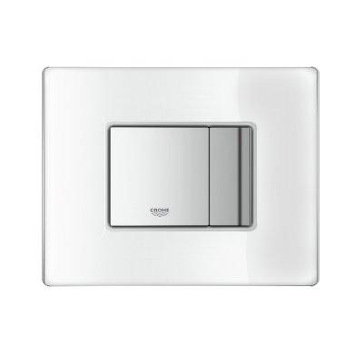 Grohe Skate Cosmopolitan przycisk spłukujący ze szklaną płytką szlachetna biel 38845LS0