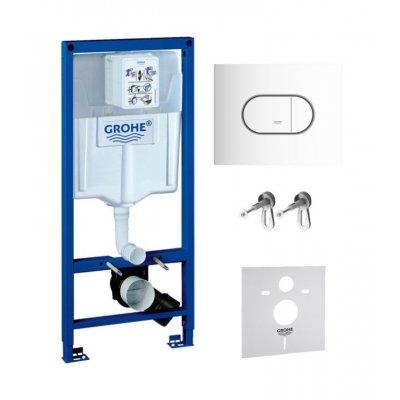 Zestaw Grohe Rapid SL z przyciskiem Arena Cosmopolitan biel alpejska (38539001, 38858SH0)