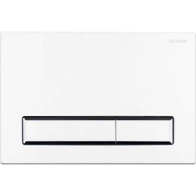 Oltens Torne przycisk spłukujący do WC biały/chrom/biały 57103000