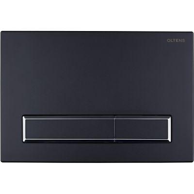 Oltens Torne przycisk spłukujący do WC czarny mat/chrom/czarny mat 57101300