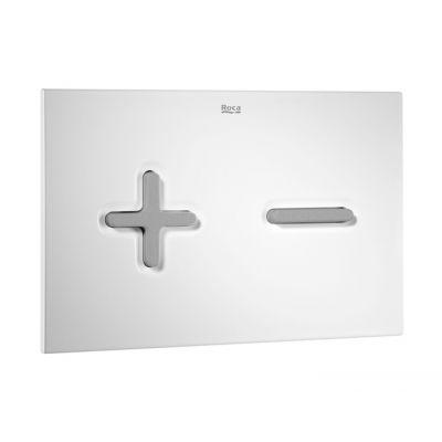 Roca PL 6 przycisk spłukujący biały/chrom mat A890085005
