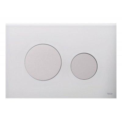 Tece Loop przycisk spłukujący do WC szkło białe/biel 9.240.650