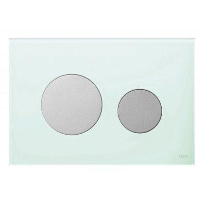 Tece Loop przycisk spłukujący do WC szkło zielone/chrom mat 9.240.652