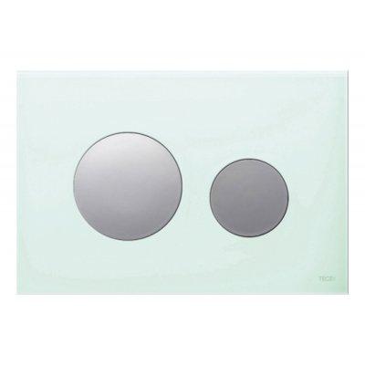 Tece Loop przycisk spłukujący do WC szkło zielone/chrom połysk 9.240.653