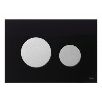 Tece Loop przycisk spłukujący do WC szkło czarne/ chrom mat 9.240.655