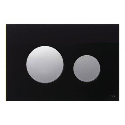 Tece Loop przycisk spłukujący do WC szkło czarne/ chrom połysk 9.240.656