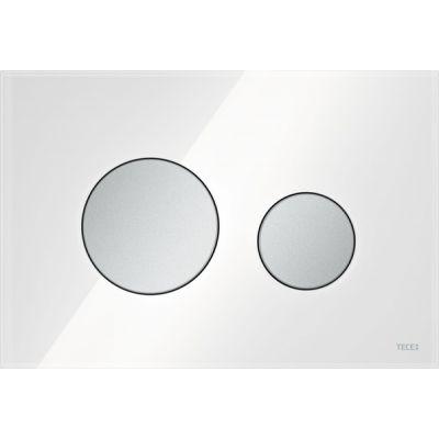 Tece Loop przycisk spłukujący do WC szkło białe/chrom mat 9.240.659