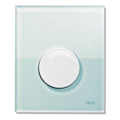 Tece Loop przycisk spłukujący ze szkła do pisuaru szkło zielone / biel 9.242.651