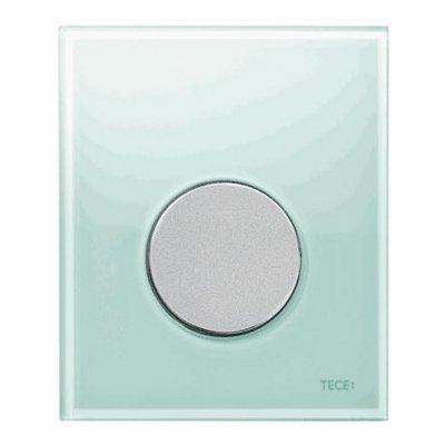 Tece Loop przycisk spłukujący do pisuaru szkło zielone / chrom mat 9.242.652