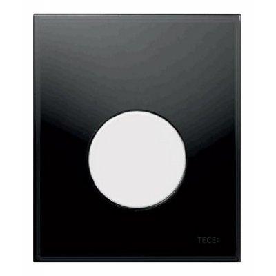 Tece Loop przycisk spłukujący do pisuaru szkło czarne / biel 9.242.654