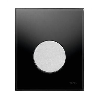 Tece Loop przycisk spłukujący do pisuaru szkło czarne / chrom mat 9.242.655
