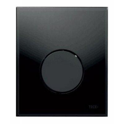 Tece Loop przycisk spłukujący do pisuaru szkło czarne / czerń 9.242.657
