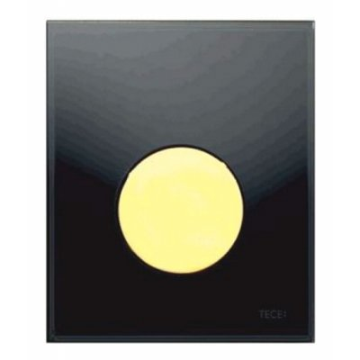 Tece Loop przycisk spłukujący do pisuaru szkło czarne / złoty 9.242.658
