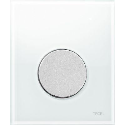 Tece Loop przycisk spłukujący do pisuaru szkło białe / chrom mat 9.242.659
