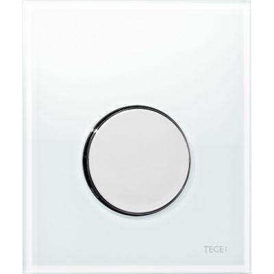 Tece Loop przycisk spłukujący do pisuaru szkło białe / chrom połysk 9.242.660