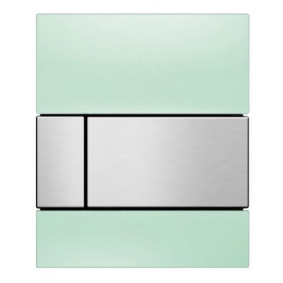 Tece Square przycisk spłukujący do pisuaru szkło zielone / stal 9.242.804