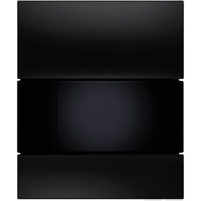 Tece Square przycisk spłukujący do pisuaru szkło czarne/czarny  9.242.809