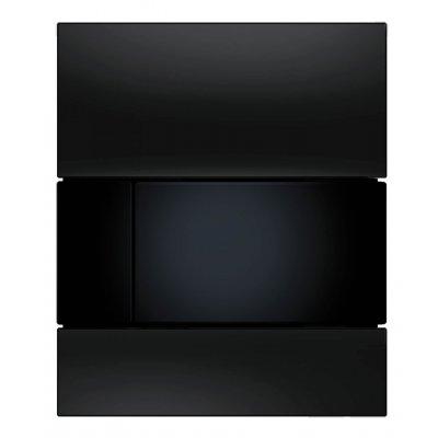 Tece Square przycisk spłukujący do pisuaru szkło czarne / czerń 9.242.809