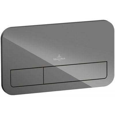 Villeroy & Boch ViConnect M200 przycisk spłukujący do WC szkło szary błyszczący 922400RA