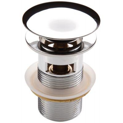 Deante Click-Clack korek okrągły z przelewem do umywalki chrom  NHC010B