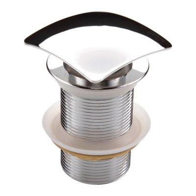 Deante Click-Clack korek kwadratowy bez przelewu do umywalki chrom NHC011A