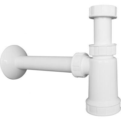 Oltens Harkan syfon umywalkowy butelkowy 1 1/4 plastikowy biały 02101000