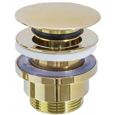 Rea korek do umywalki klik-klak jasny złoty REA-A2360