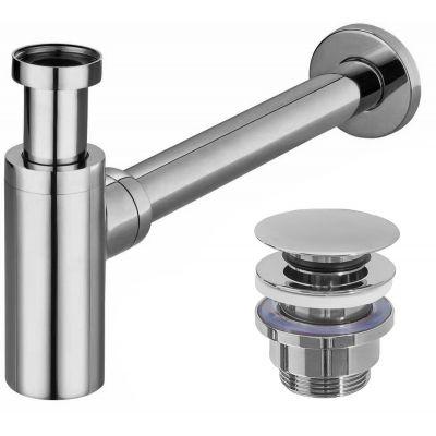 Rea syfon do umywalki z korkiem klik-klak chrom REA-A5693