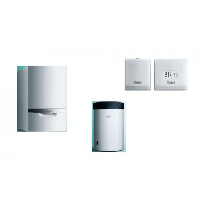 Vaillant ecoTEC plus pakiet systemowy 4 kocioł kondensacyjny jednofunkcyjny VC 246/5-5 z zasobnikiem uniSTOR VIH R 150/6 B i regulatorem eRELAX 0010020632