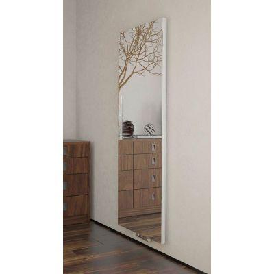Terma Case Slim grzejnik pokojowy 136x42 cm lustro z białymi bokami WGCSM136042K916ZX