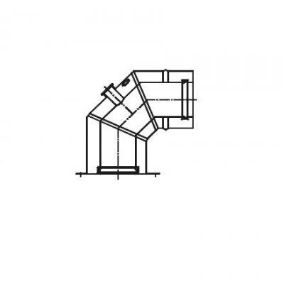 Termet EcoCondens kolano koncentryczne 90st 80/125 - adapter T9000011500