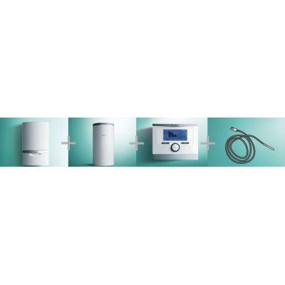 Vaillant 22 pakiet systemowy kocioł kondensacyjny gazowy jednofunkcyjny VC ecoTEC plus z regulatorem pogodowym multiMATIC 700 z zasobnikiem duwężownicowym auroSTEP VIH S2 i czujnikiem C.W.U 0010019670