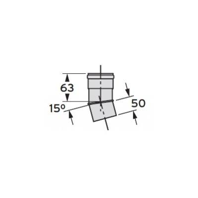 Vaillant kolanko 15° DN 80 303257