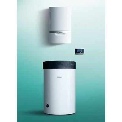 Vaillant ecoTEC plus Thermo1 pakiet systemowy kocioł kondensacyjny jednofunkcyjny VC 146/5-5 z zasobnikiem VIH R 200/6M i regulatorem multiMATIC 0010018813