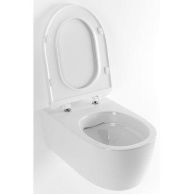 Excellent Doto Pure Rim 48 miska WC wisząca bez kołnierza z deską wolnoopadającą biała CEEX.1404.485.WH