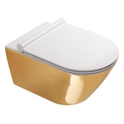 Catalano Zero miska WC wisząca Newflush biały/złoto 1VS55NRBO