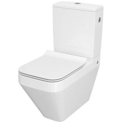 Cersanit Crea miska WC kompakt CleanOn z deską wolnoopadającą białą K114-022