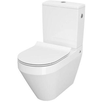 Cersanit Crea miska WC kompakt CleanOne z deską wolnoopadającą biały K114-023