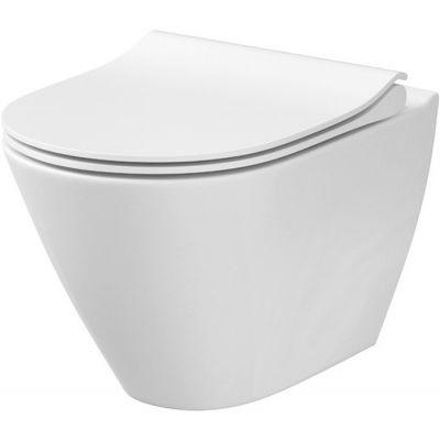 Cersanit City Oval New miska WC wisząca bez kołnierza CleanOn biała K35-025