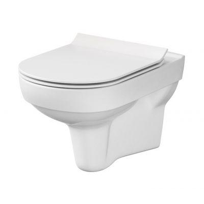 Cersanit City miska WC wisząca Clean On bez kołnierza z deską wolnoopadającą biała K701-143