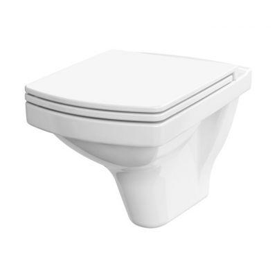 Cersanit Easy miska WC CleanOn wisząca bez kołnierza z deską wolnoopadającą biała K701-144