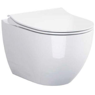 Zestaw Cersanit Zen miska WC Clean On z deską wolnoopadającą Slim biała S701-428