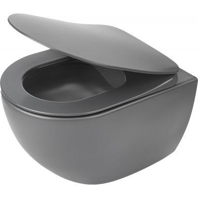 Deante Peonia Zero miska WC wisząca bez kołnierza antracyt CDEDZPW